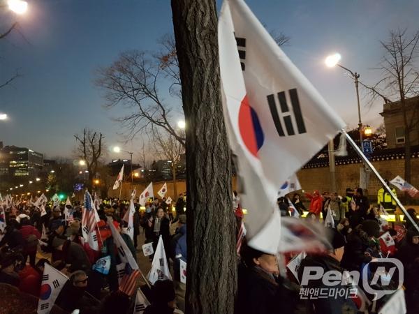 태극기 집회 (펜앤드마이크)